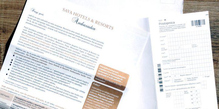 Med pošto: Lojalnostni klub Sava Hotels & Resorts
